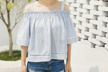 Off Shoulder Stripe Summer Top