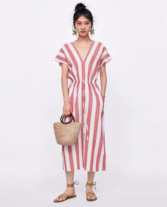 ZA Inspired Striped Kaftan