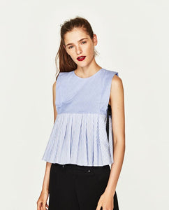 ZARA Inspired Contrasting Striped Top