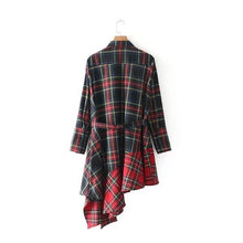 Checked And Ruffle Tunic