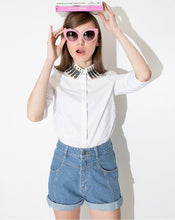 ASOS Inspired Pencil Embroidery Collar Shirt