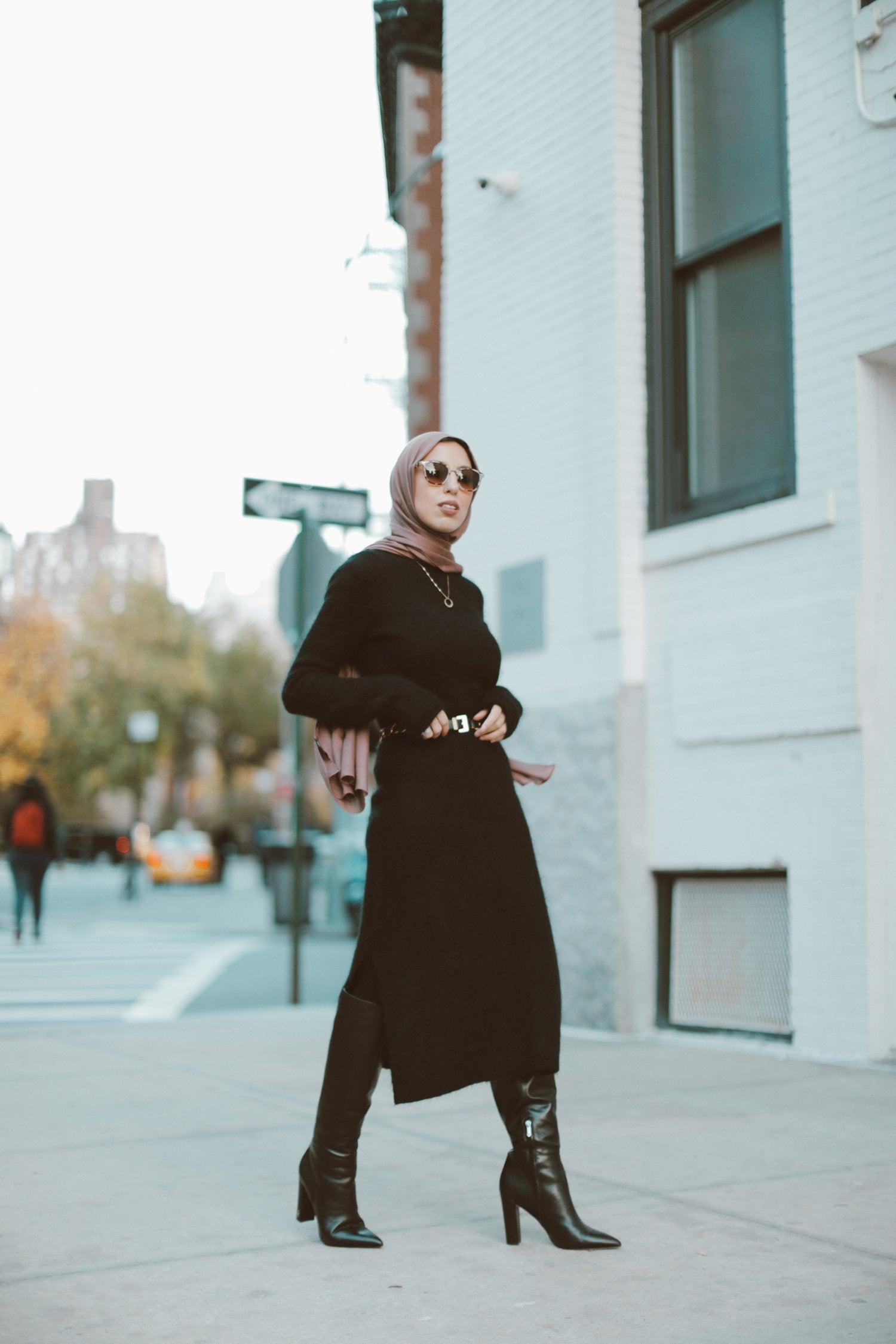 Sweater Dresses + Boots this Fall with Nordstrom