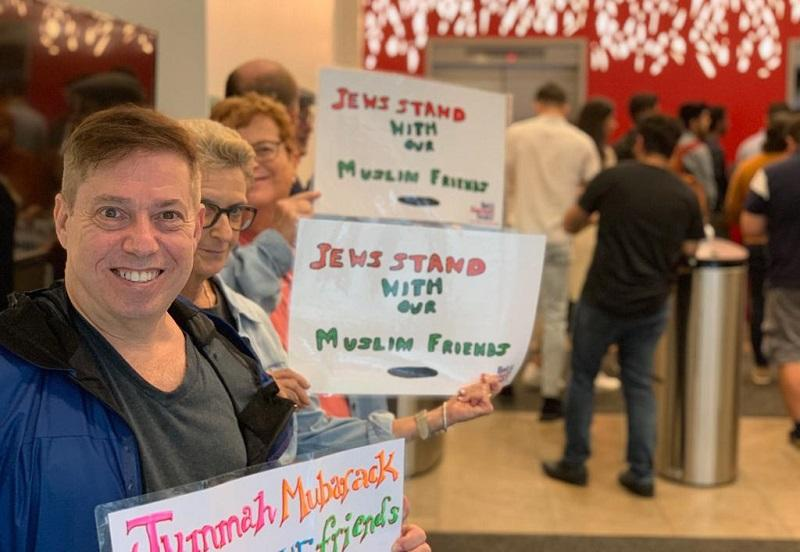 'Love Thy Neighbor' – Talking with Jewish Supporters at NYU's Jummah Prayers