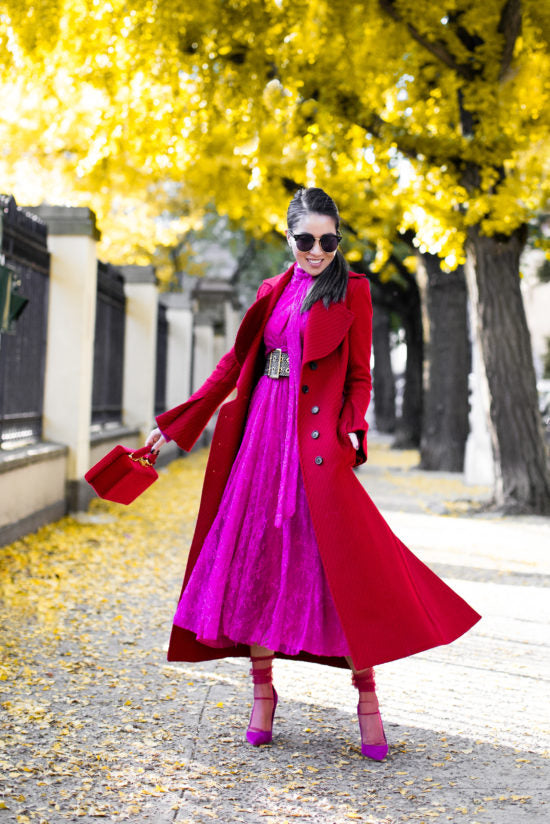 Fantastic Colors - Fall Fashion with Reds and Pinks