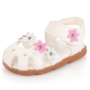 1-3 years old children sandals shoes fashion causal flat with baby sandals summer flower soft bottom - MBMCITY