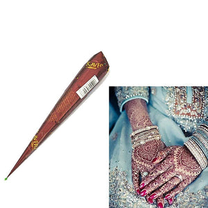 1 Piece Natural Henna Paste Brown Color Mehndi Cone Body Art Paint Sexy Drawing Tribal Temporary - MBMCITY