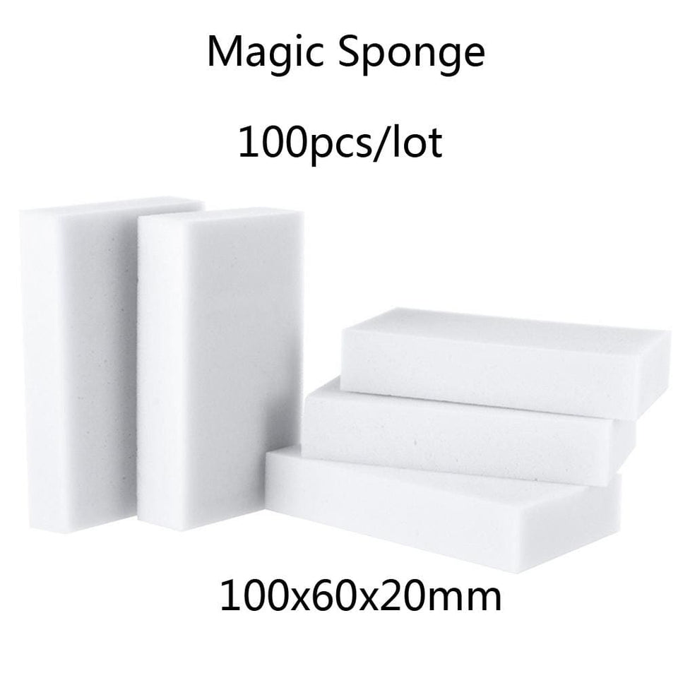 100*60*20mm 100 pcs Magic Sponge Eraser Kitchen Office Bathroom Clean Accessory/Dish Cleaning.