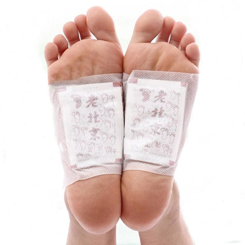 100packs=200pcs/lot Ginger Wormwood Detox Foot Pads Patches With Adhesive (200pcs=100pcs