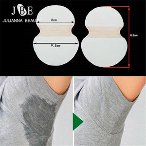 100pcs=50Pairs/lot Underarm Cotton Sweat Pads Disposable Armpits Antiperspirant Unisex Absorbing