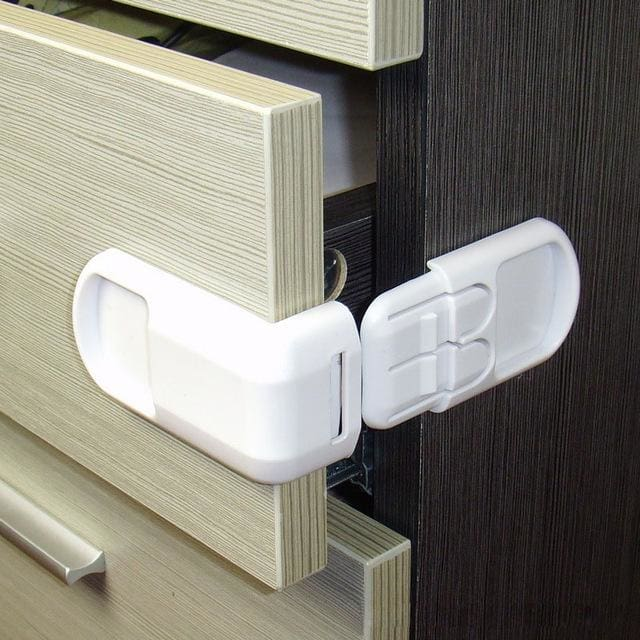 10PCS Drawer lock for children Safety lock baby door Safety buckle Prevent open drawer cabinets Anti