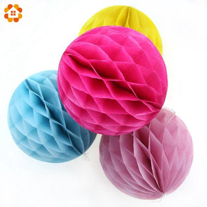 10PCS/Lot 4''(10cm)Can Mix Colors Tissue Paper Lantern Honeycomb Ball For Home Wedding &Birthday