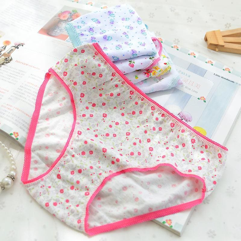 10Pcs/lot Cotton Panties Girls Kids Short Briefs Children Underwear Child Cartoon Shorts Underpants