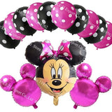 13Pcs/lots Minnie Mouse Theme Party Decoration Combination Suit Balloons Happy Birthday Party Dot B