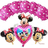 13Pcs/lots Minnie Mouse Theme Party Decoration Combination Suit Balloons Happy Birthday Party Dot G
