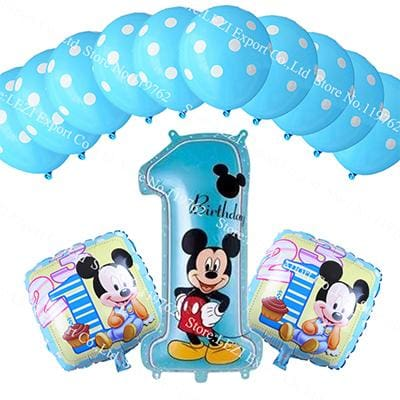 13pcs/lots Minnie Mouse theme party decoration Combination suit balloons Happy birthday party Dot BB