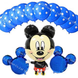 13Pcs/lots Minnie Mouse Theme Party Decoration Combination Suit Balloons Happy Birthday Party Dot S