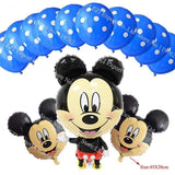 13Pcs/lots Minnie Mouse Theme Party Decoration Combination Suit Balloons Happy Birthday Party Dot Y