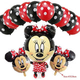 13Pcs/lots Minnie Mouse Theme Party Decoration Combination Suit Balloons Happy Birthday Party Dot T