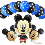 13Pcs/lots Minnie Mouse Theme Party Decoration Combination Suit Balloons Happy Birthday Party Dot V