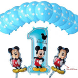 13Pcs/lots Minnie Mouse Theme Party Decoration Combination Suit Balloons Happy Birthday Party Dot Chl