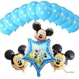 13Pcs/lots Minnie Mouse Theme Party Decoration Combination Suit Balloons Happy Birthday Party Dot F