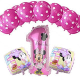 13pcs/lots Minnie Mouse theme party decoration Combination suit balloons Happy birthday party Dot DD