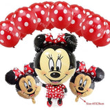 13Pcs/lots Minnie Mouse Theme Party Decoration Combination Suit Balloons Happy Birthday Party Dot W