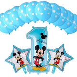 13Pcs/lots Minnie Mouse Theme Party Decoration Combination Suit Balloons Happy Birthday Party Dot Aa