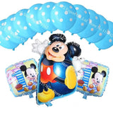 13Pcs/lots Minnie Mouse Theme Party Decoration Combination Suit Balloons Happy Birthday Party Dot L