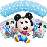 13Pcs/lots Minnie Mouse Theme Party Decoration Combination Suit Balloons Happy Birthday Party Dot H