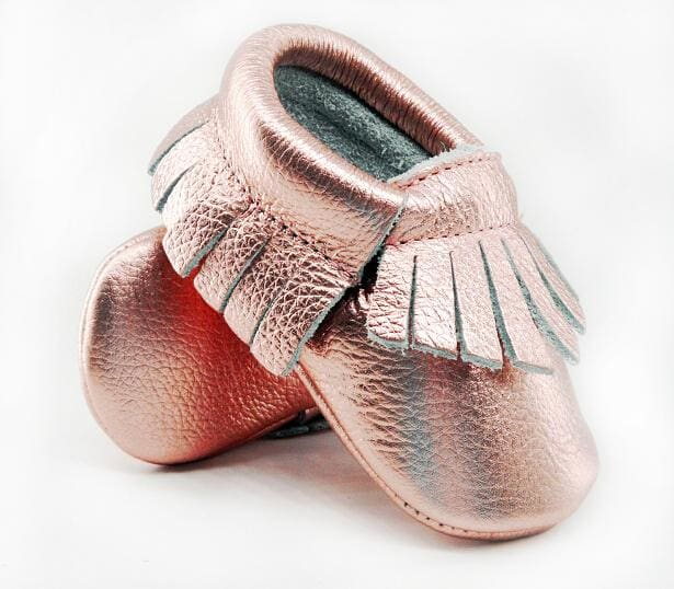 16color New Shine Pink Genuine Leather Baby moccasins First Walkers Soft Rose gold Baby girl shoes - MBMCITY