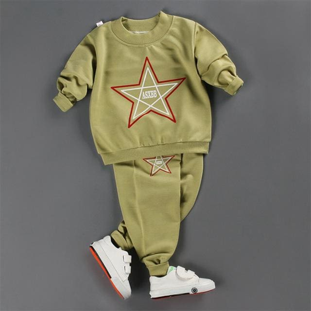 18M-5T Girls Clothing Autumn Baby Boys Girls Sport Suit 2017 Children Boys Clothing Set Toddler New - MBMCITY