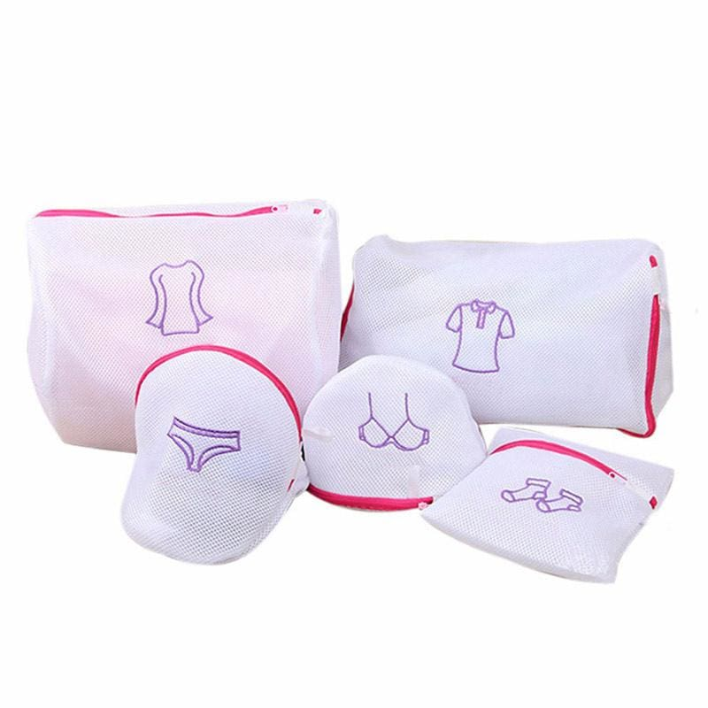 1pc Bra Underwear Laundry Wash Bag Foldable Baskets Zippered Mesh Bag Household Cleaning Tools - MBMCITY