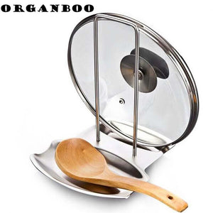 1PCS kitchen accessories stainless steel pot lid shelf kitchen organizer pan cover lid rack stand