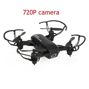 2.4Ghz Wifi 720P Hd Camera Mini Foldable Drone Altitude Hold Headless One-Key Return 3D Flip Fpv Rc 0.3Mp Black / China