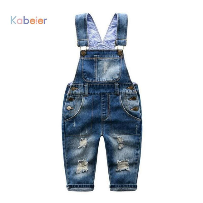2-7 T Brand Kids Jeans Boys Girls Denim Overalls Child Suspender Jeans Pants Casual Fashion Children - MBMCITY