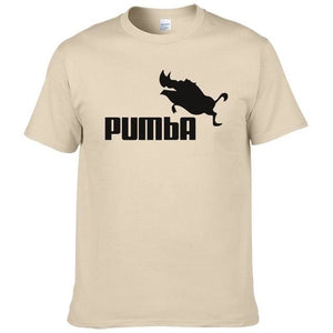2016 funny tee cute t shirts homme Pumba men short sleeves cotton tops cool tshirt summer jersey