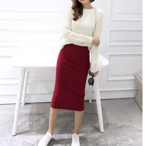 2016 spring Autumn And Winter package hip skirt slit skirts women step skirt stretch Slim thin