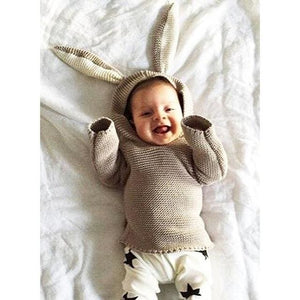 2017 Autumn New Baby Boys Sweaters 3D Rabbit Cotton Pullover Kids Girls Knitted Sweater for 1-5Y - MBMCITY