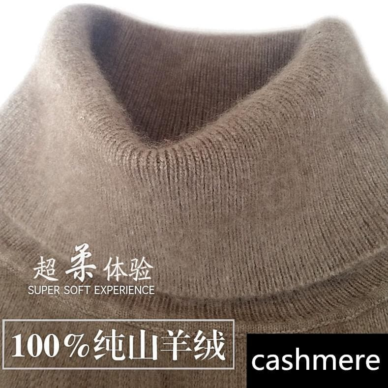 2017 Autumn Winter Cashmere Sweater Female Pullover High Collar Turtleneck Sweater Women Solid