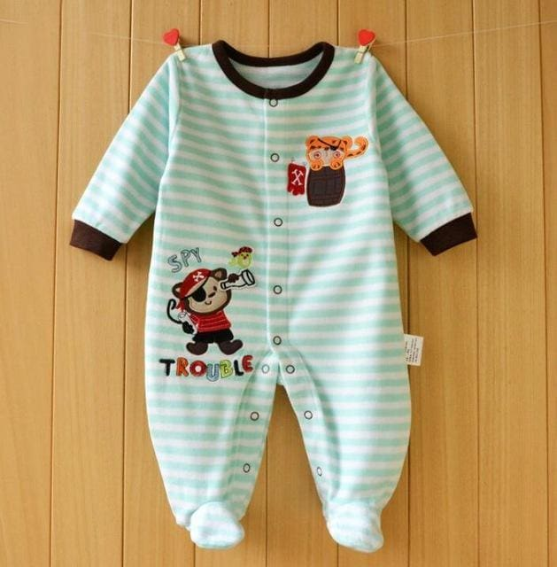 2017 Baby Rompers Newborn Baby Clothes Long Sleeve Animal Cute Boy Clothing Set Polar Fleece Baby