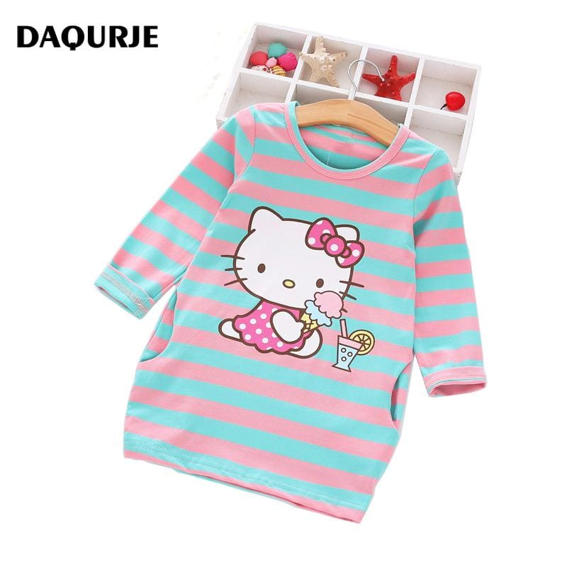 2017 Girls Dress Cartoon Kids Dresses For Girl Clothes 2-8Y Baby children clothing Vestidos Costume.