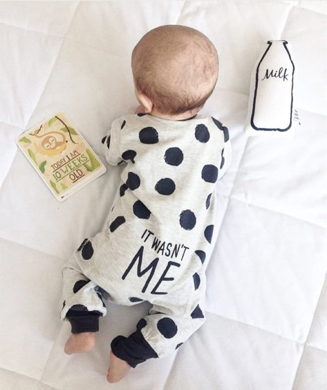 2017 Hot selling Fashion Baby Boy Girl Clothes Newborn Toddler Long-sleeved Dot jumpsuit Infant - MBMCITY
