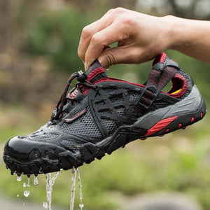 2017 Men Outdoor Sneakers Breathable Hiking Shoes Big Size Men Women Outdoor Hiking Sandals Men