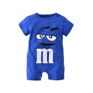 2017 New Fashion baby Romper unisex cotton Short sleeve newborn baby clothes jumpsuit Infant - MBMCITY