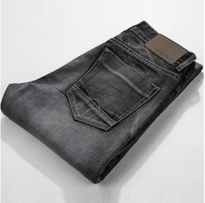 2017 New Mens Jeans High Quality Dark Gray Male Fashion Leisure Slim Jeans Brand Mens Clothing Dark Gray / 28