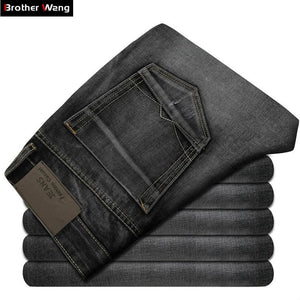 2017 New Mens Jeans High Quality Dark Gray Male Fashion Leisure Slim Jeans Brand Mens Clothing