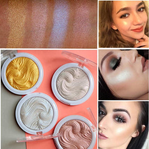 2017 New Miss Rose Highlighter Make Up Palette Waterproof White Gold Shimmer Glow Brightening Powder - MBMCITY
