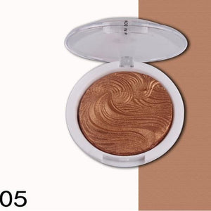 2017 New Miss Rose Highlighter Make Up Palette Waterproof White Gold Shimmer Glow Brightening Powder