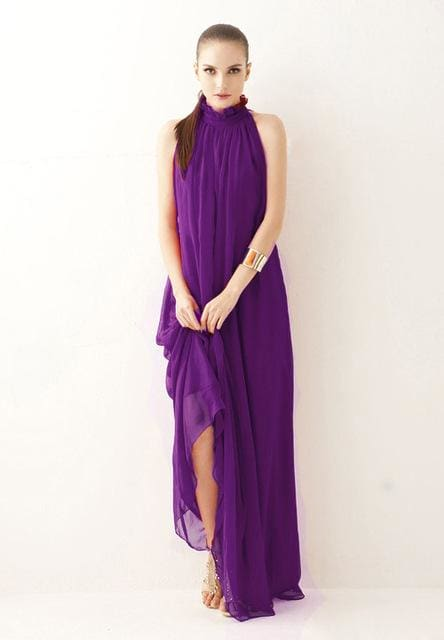 2017 New summer Maternity Dresses long Chiffon Bohemian Dress Clothes For Pregnant Women Maternidade Purple